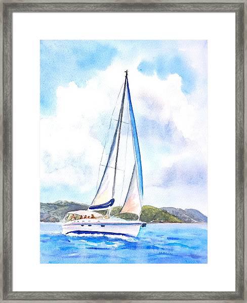 Sailing The Islands 2 Framed Print