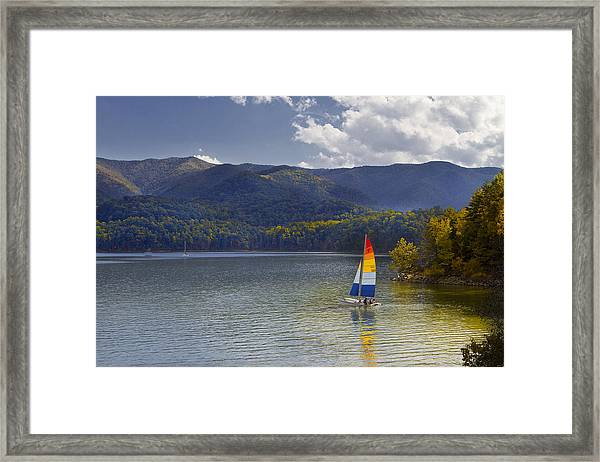 Sailing The Mountain Lakes Framed Print
