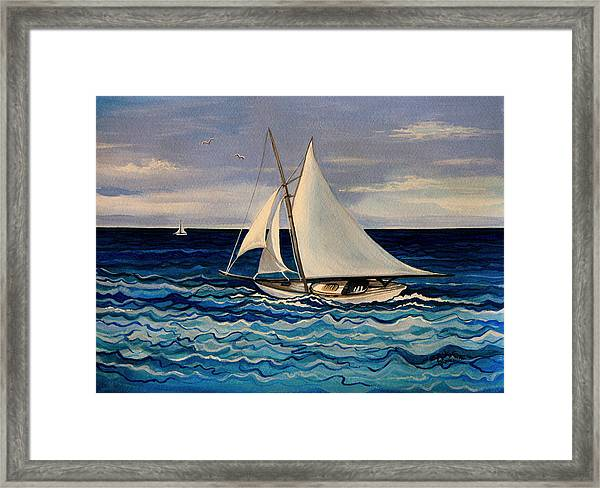 Sailing With The Waves Framed Print