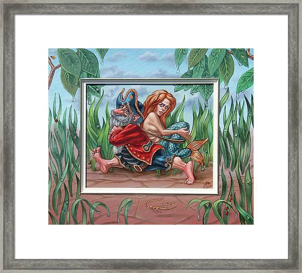 Sailor And Mermaid Framed Print