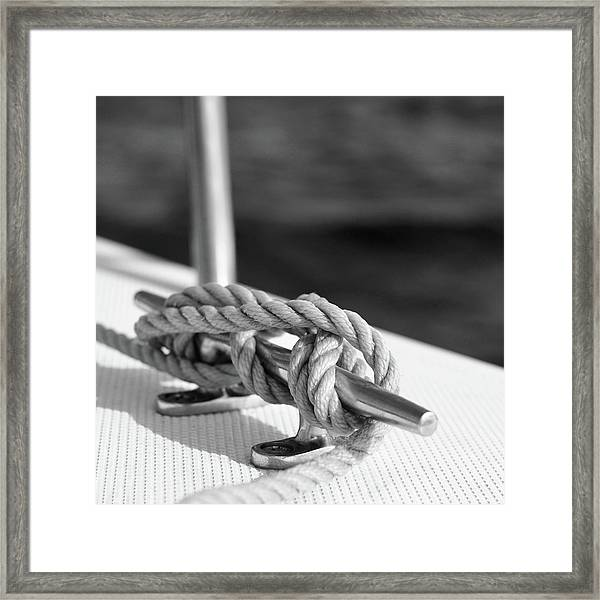 Sailor's Knot Square Framed Print