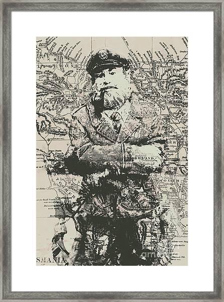 Sailors Vintage Adventure Framed Print