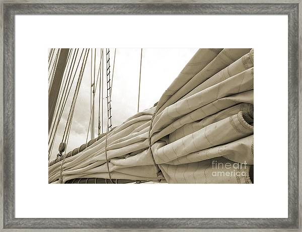 Sails Are Down 2 Framed Print