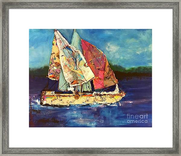 Sails Away Framed Print
