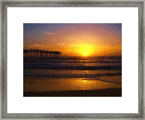 Saint Augustine Beach Sunrise Framed Print