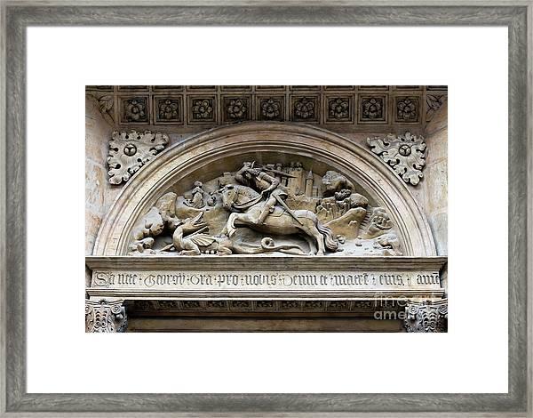 Saint George And Dragon Framed Print