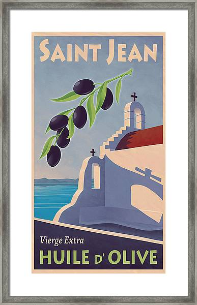 Saint Jean Olive Oil Framed Print