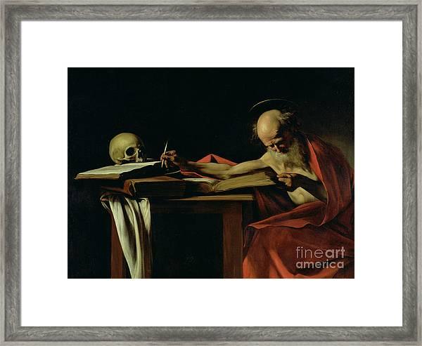 Saint Jerome Writing Framed Print