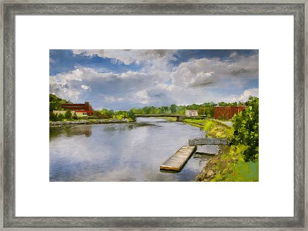 Saint John River Painting Framed Print