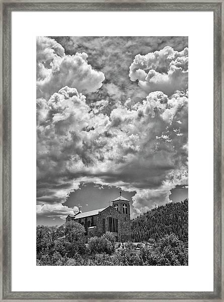 Saint Joseph Apache Mission, Mescalero, New Mexico, June 10, 201 Framed Print