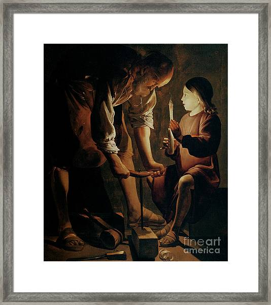 Saint Joseph The Carpenter  Framed Print