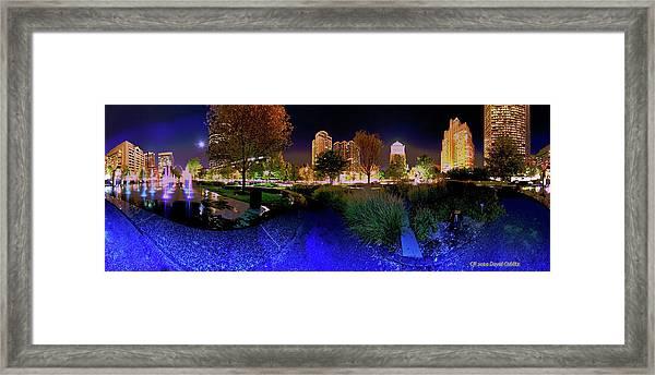 Saint Louis City Garden Panorama Framed Print