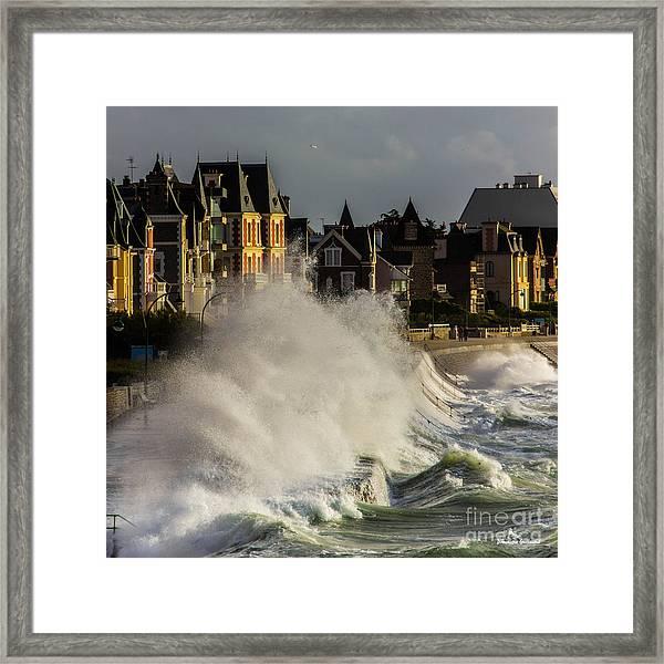 Saint-malo, Great Tide Framed Print