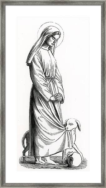 Saint Margaret Of Cortona Framed Print