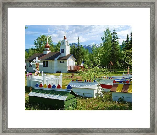 Saint Nicholas Orthodox-eklutna Alaska Framed Print
