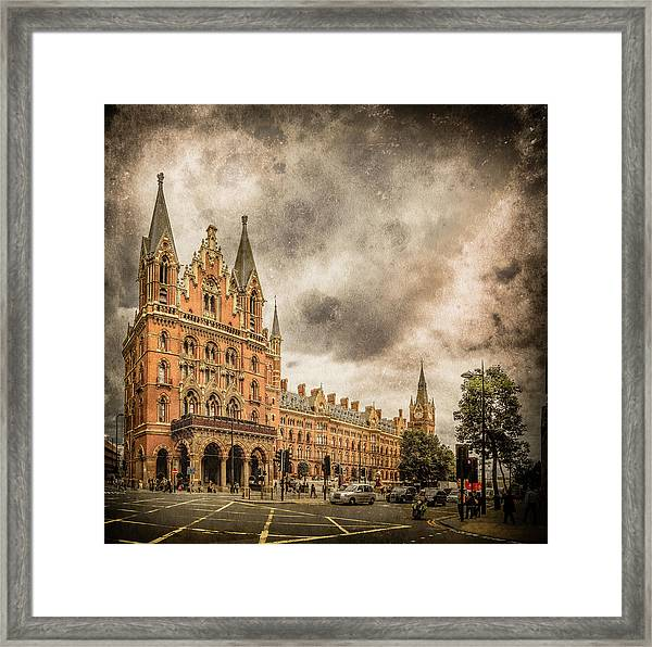 Framed Print featuring the photograph London, England - Saint Pancras Station by Mark Forte