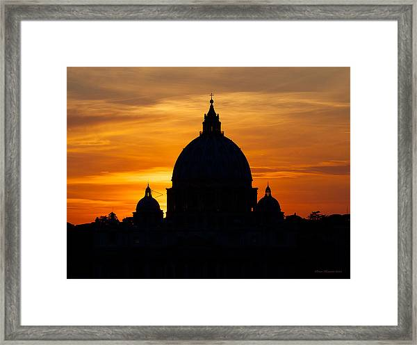 Saint Peters Sunset Framed Print