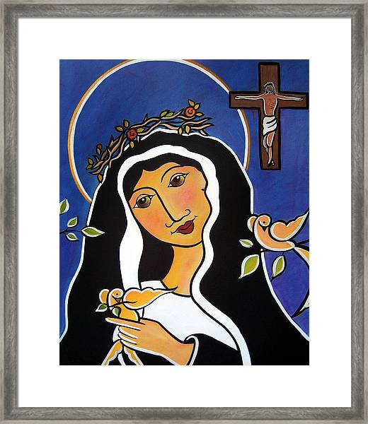 Saint Rita - Patron Of Impossible Causes Framed Print