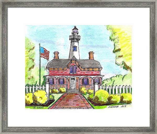 Saint Simons Lighthouse Framed Print by Paul Meinerth
