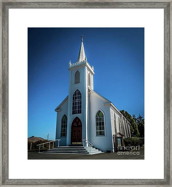 Saint Teresa Of Avila Church - Bodega, Sonoma County Framed Print