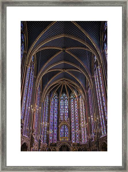 Sainte Chapelle Stained Glass Paris Framed Print