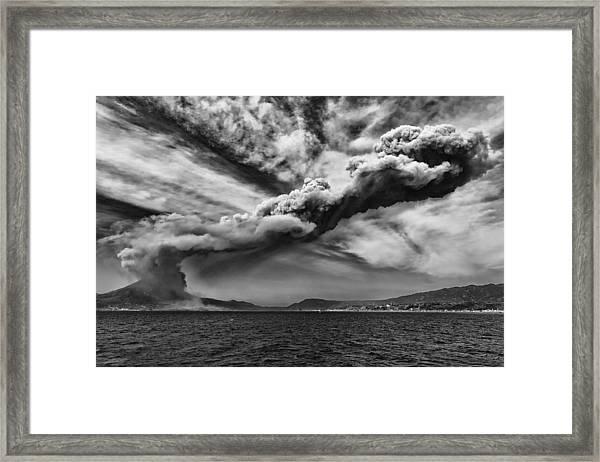 Sakurajima Volcano Framed Print
