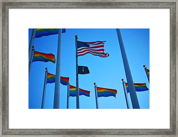Salem Ma Flags Gay Pride Framed Print by Toby McGuire