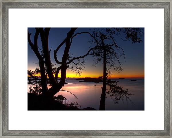 Framed Print featuring the photograph Salish Sunrise by Randy Hall