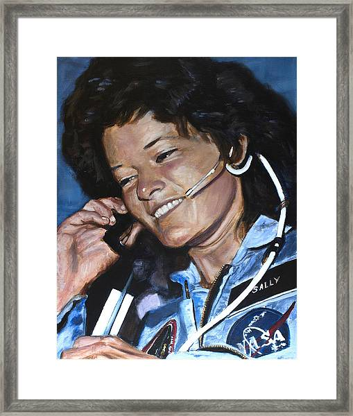 Sally Ride Framed Print