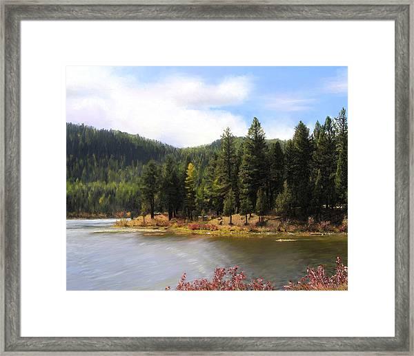 Salmon Lake Montana Framed Print