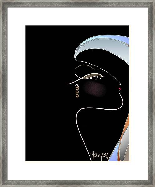 Framed Print featuring the painting Salome by Larry Talley