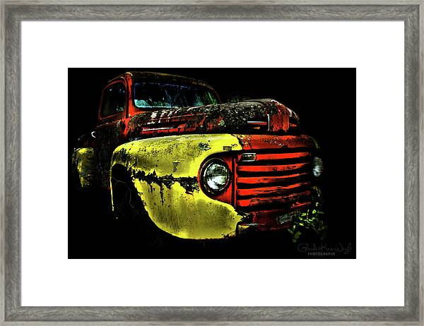 Framed Print featuring the photograph Salsa Chevy by Glenda Wright