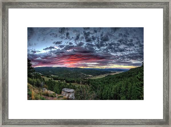 Salt Creek Sunrise Framed Print