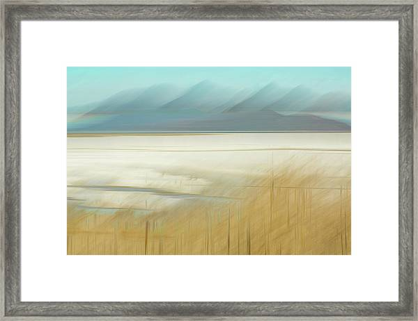 Salt Lake Salt  Framed Print