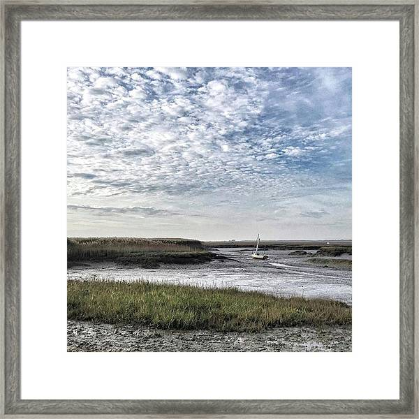 Salt Marsh And Creek, Brancaster Framed Print