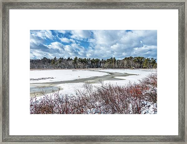 Salt Marsh Meander Framed Print