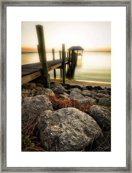 Framed Print featuring the photograph Salt Mist On River by David A Lane