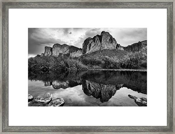 Salt River Reflections In Black And White Framed Print