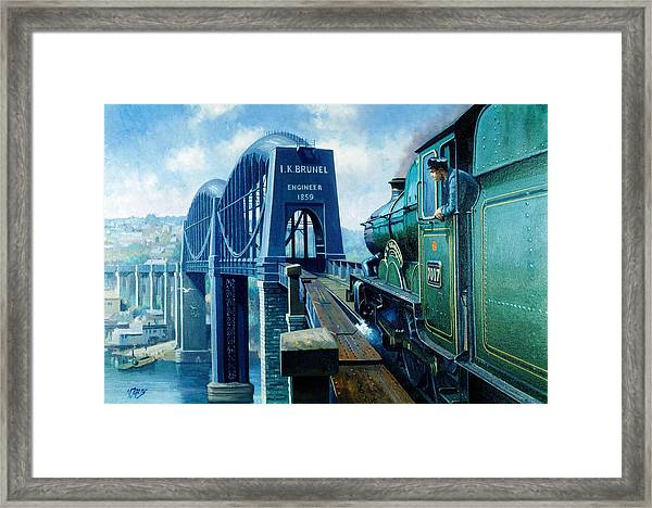 Saltash Bridge. Framed Print