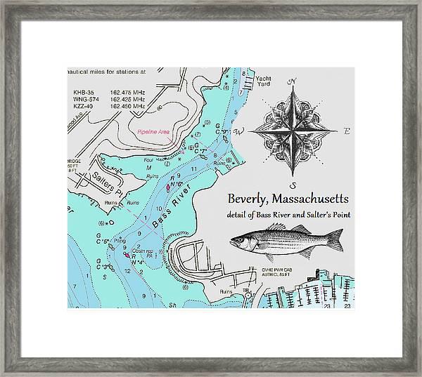 Salter's Point Map Framed Print