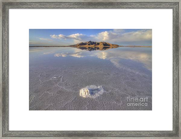 Salty Reflection Framed Print