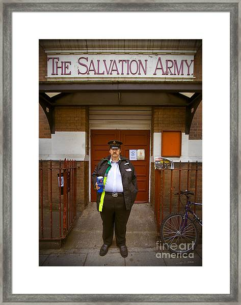 Salvation Army Soldier Framed Print