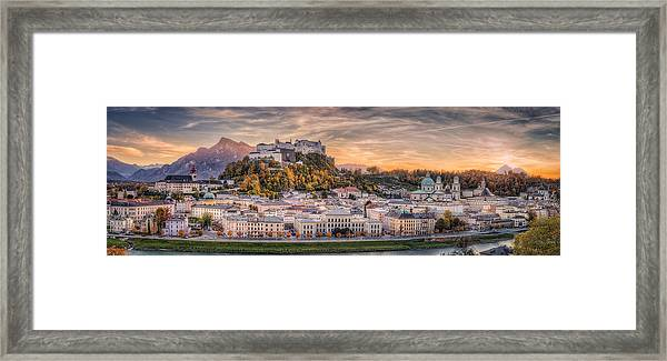 Salzburg In Fall Colors Framed Print by Stefan Mitterwallner
