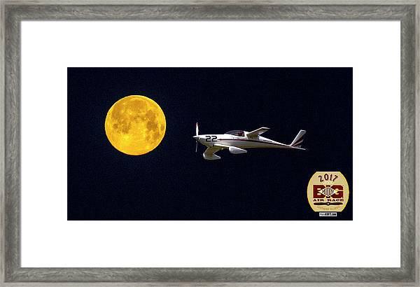 Sam And The Moon Framed Print