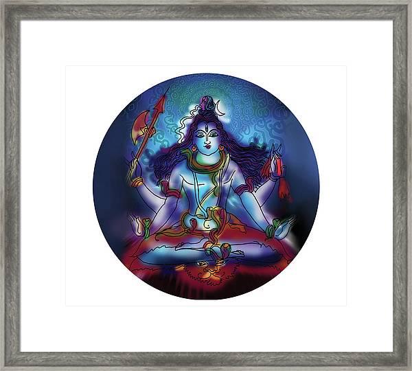 Samadhi Shiva Framed Print