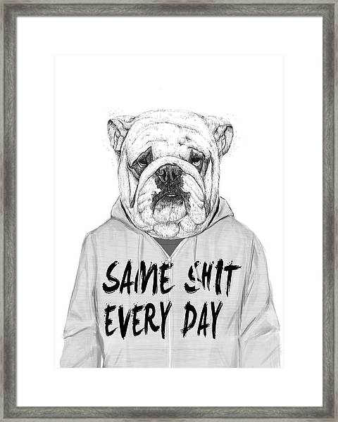 Same Shit... Framed Print