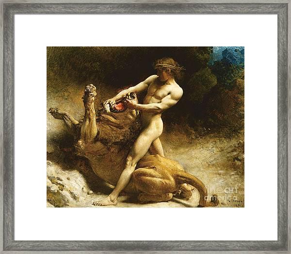 Samson's Youth Framed Print