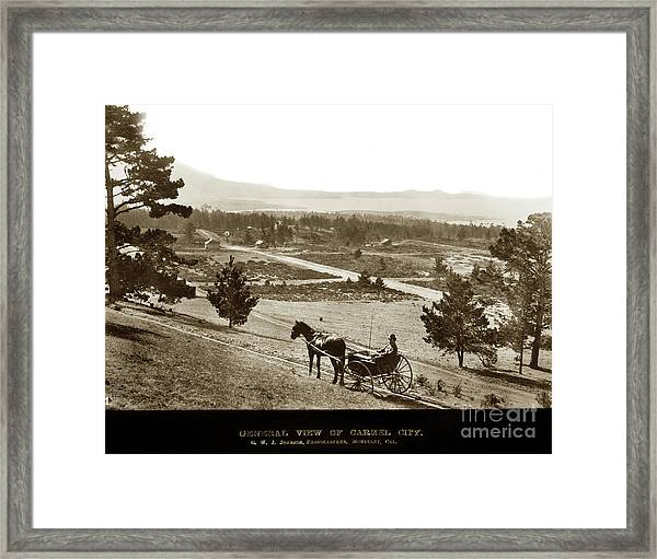 Samuel J. Duckworth Pauses To Look Upon What Would Become Carmel 1890 Framed Print