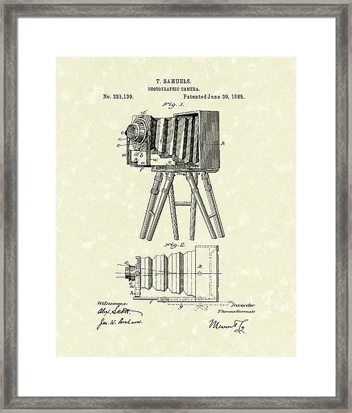 Samuels Photographic Camera 1885 Patent Art Framed Print