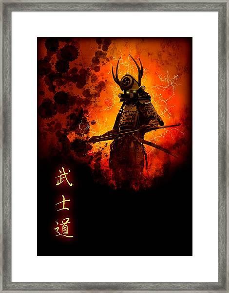 Samurai Bushido Warrior Framed Print